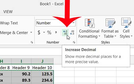 Increase The Number Of Decimal Places In Excel 2013